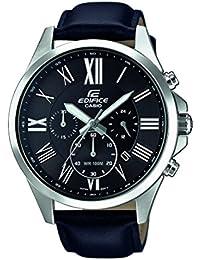 Casio Edifice – Herren-Armbanduhr mit Analog-Display und Echtlederarmband – EFV-500L-1AVUEF