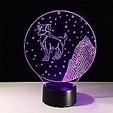 baby Q 3D LED Nachtlicht Lampe, Acryl Visuelle Licht, Touch Bunte Lichter, Stereo Lichter, USB Powered Lights