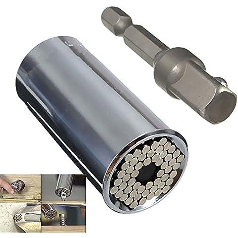 Carejoy Gator-Adattatore universale con presa di alimentazione Strumento adattatore per trapano 7-argento 19 mm (confezione da 2) - Gator Alimentazione