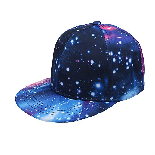 82419460265f3 Starry Galaxy Baseball Hat Flat Bill Snapback Baseball Cap 3D Women Men  Adjustable Colorful Hot Fashion