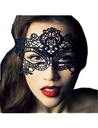 HuaYang Sexy masque de yeux en dentelle noir pour le danse mascarade