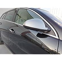 Cubiertas de espejos retrovisores de coche, hechas de acero inoxidable pulido, 2 unidadesLas cubiertas