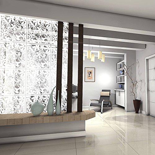 Kernorv diy divisorio in pvc ecologico, 12 pezzi semplice e moderno da appendere pannello schermo per decorare beding, sala da pranzo, studio e sitting-room, hotel, bar e scuola, bianco