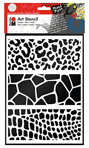 Marabu 028500010 - Art Stencil Din A4 Animal Print Combination