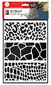 Marabu 028500010 Poliéster Plantilla de Estarcido Plantilla - Plantilla de Letras (Plantilla de Estarcido, Adulto, Poliéster, 210 mm, 297 mm)