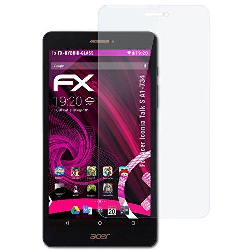 atFolix Glasfolie kompatibel mit Acer Iconia Talk S A1-734 Panzerfolie, 9H Hybrid-Glass FX Schutzpanzer Folie