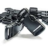 REKYO 24PCS 1 Zoll Kunststoff Klickverschluss Klippverschluss Steckschnalle Rucksack Schnallen Für 1 Zoll Gürtel Gurtband/DIY Handwerk Rucksack und Taschen Umreifung 25mm