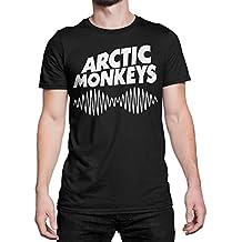 Camiseta Hombre - Arctic Monkeys camiseta con stampa rock band 100% algodone LaMAGLIERIA