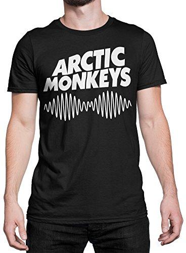 T-shirt Homme - Arctic Monkeys T-shirt con stampa rock band 100% coton LaMAGLIERIA, S, Noir