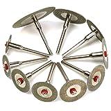 Leistungsstark Trennscheibe 10pcs Diamant Trennscheibe Set Mini Bohrer abgeschnitten Rad Drehwerkzeug