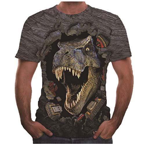 AmyGline Herren T Shirt Top,3D Druck Kurzarm T-Shirt Rundhals Persönlichkeit Männer Sommer Hemd Henley Shirt Sweatshirt Freizeithemd -