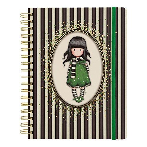 Gorjuss Classic Stripe Collection, Spiralbindung, Tagebuch Groß–Der Schal (Schal Stripe Square)