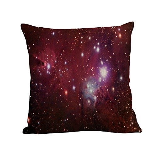 Vovotrade Étuis d'oreillers en ciel Étoilé Ensemble de Coussin de Canapé en Lin Décor de Maison (C, Multicolore)