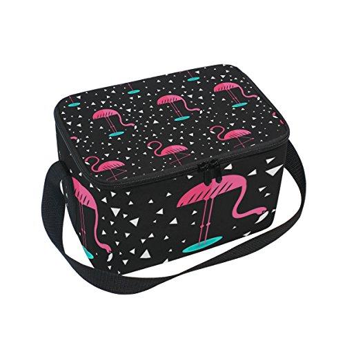 Kühltasche mit Flamingo-Muster, isoliert, wiederverwendbar, für Outdoor-Reisen, Picknick-Taschen