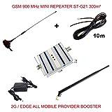 GSM 900 MHz ST-G21 Mobilfunk Signal Verstärker Repeater alle Mobilfunkbetreiber Komplettset