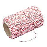 Kitchen Craft KCTWINE Ficelle de Boucher Polyester, Rouge/Blanc, 32 x 32 x 22 cm