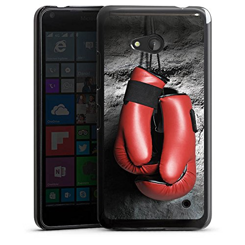 Microsoft Lumia 640 (black version only) Hülle Schutz Hard Case Cover Boxen Boxhandschuhe Fight (Box Black Berufliche)