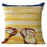 Nunubee Cotton Linen Cushions Cover Protectors 18x18In/45x45cm Pillowcase Throws Pillow Case Sofa Decoration