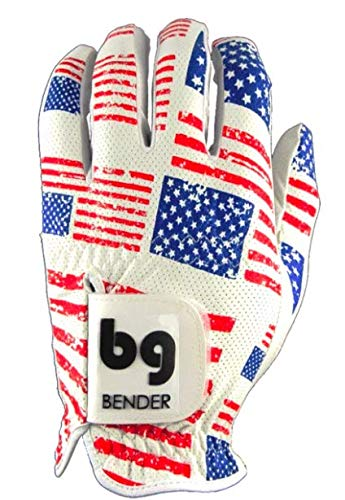 Bender Handschuhe Mesh Golf Handschuhe für Damen Cabretta Leder Easy-Grip Handschuhe Links getragen, usa, Large -
