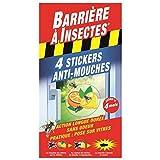 Barriere A Insekten barstik 4Stück Repellent Aufkleber Fliegenschutz Glasscheiben rot 12x 0,3x 22cm