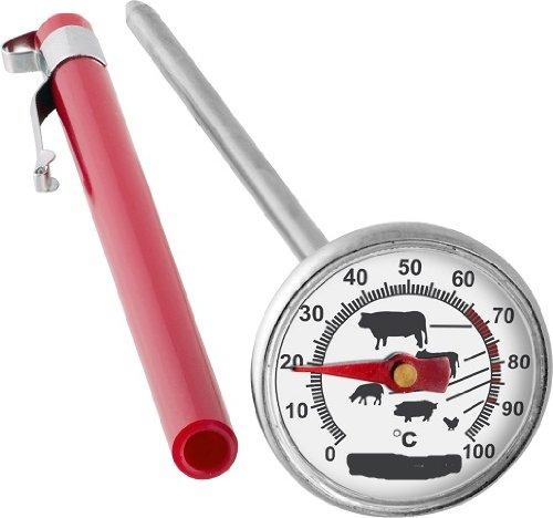 Fleisch Braten Thermometer (EDELSTAHL FLEISCHTHERMOMETER 0°C bis +100°C FLEISCH BRATEN THERMOMETER 100200)