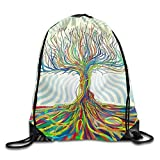 LoveBiuBiu Psychedelic Tree Drawstring Backpack Rucksack Shoulder Bags Training Gym Sack for Man and Women