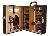 #7: Black Butterfly Bar accessories | Mega Bar Set | Portable Leatherette Briefcase Bar Set | Bar Set | Bar Set For Picnic | bar Set for Travel | Bar Set for car | Whiskey Glasses