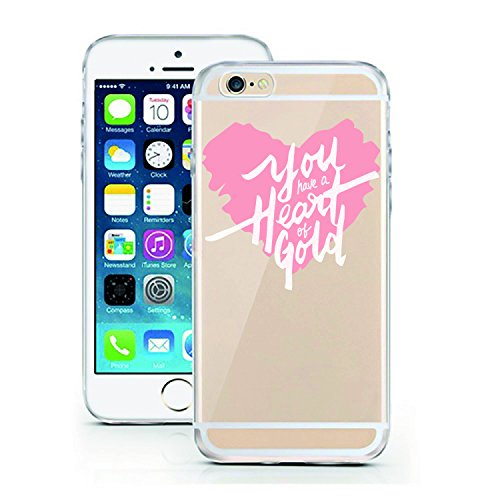 iPhone 7 Hülle von licaso® für das Apple iPhone 7 aus TPU Silikon Muster Attitude is Everything XOXO Style Fashion Design ultra-dünn schützt Dein iPhone 7 & ist stylisch Schutzhülle Bumper in einem (i You have a Heart of Gold