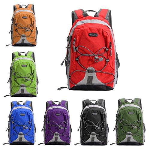 CAMTOA Kinder Rucksack Kleiner Schulranzen für Outdoor Camping Sport Backpack 23x17x33CM Orange