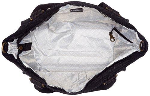 Kipling Damen New Shopper S Tote, 42x27x0.1 cm Schwarz (Black Scarlet EMB)