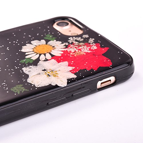 "iPhone 7Plus Handyhülle, CLTPY iPhone 7Plus Transparent Klare 3D Motiv Fall, [Ultra Hybrid] Echte Getrocknete Blumen Series Etui, Dünne Stoßfest Gummi Case für 5.5"" Apple iPhone 7Plus (Nicht iPhone 7) Floral 3"