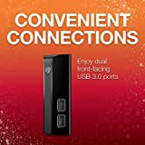 Seagate 4TB Backup Plus Hub USB 3.0 Desktop 3.5 inch External Hard Drive for PC and Mac with 2 Months Free Adobe Creative Cloud Photography Plan