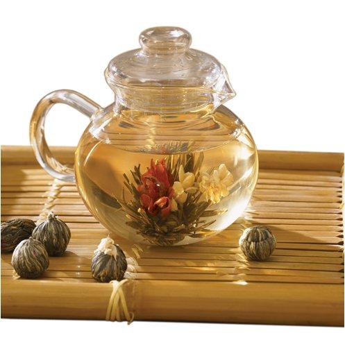Primula Teekanne Glas mit 6Tee Blumen -