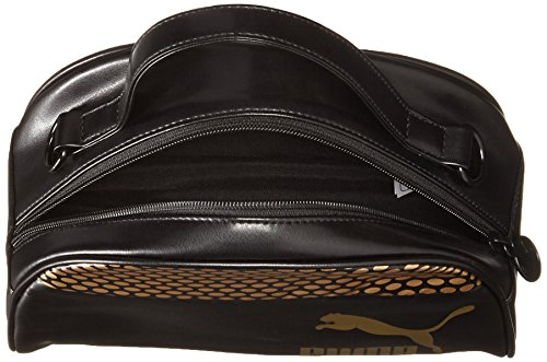 Puma Archive Women's GOLD Mini Grip Bag (074331) Puma Black / Gold / Graphic