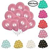 "TtS 100pcs 10"" Latex Wedding Party Balloons Pink Decorations Xmas Gift"