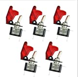 5x rosso di luce LED 12V 20A auto camion interruttore a levetta switch ON/OFF kit