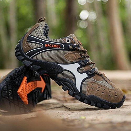 SAGUARO Uomo Outdoor Sportive Scarpe da Trekking Running Ginnastica Corsa Scarpe da Arrampicata Basse morbide Casual Sneakers Marrone