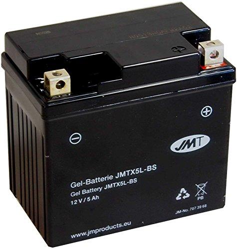 Batterie Gel Aprilia SR 50 LC Ditech Street TE000 2003-2005 JMT JMTX5L-BS 12V 5Ah