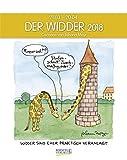 Widder 2018: Sternzeichenkalender-Cartoonkalender als Wandkalender im Format 19 x 24 cm.