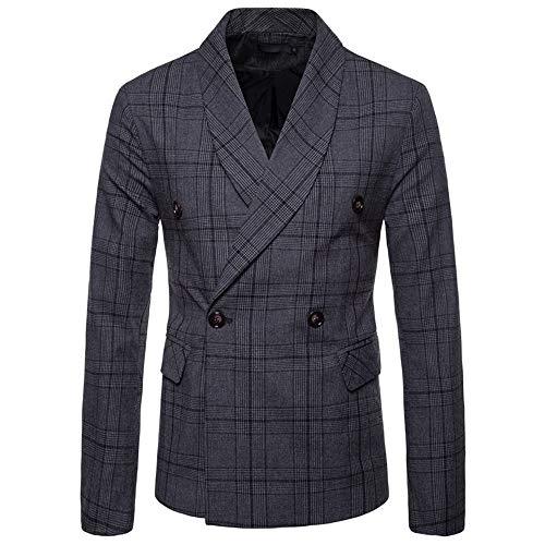 Loose Fit Herren Baumwolle Blazer Sakko Anzugjacke mit Zwei Knopf Freizeit Casual einfarbig Modern Sakko für Hochzeit Party Abschluss Business Blazer Jacket - Baumwolle Ein-knopf-blazer