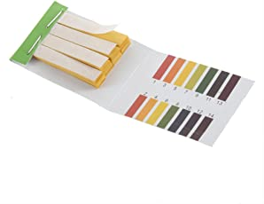 YKS 5841611 Full pH 1-14 Test Indicator Litmus Paper Water Soil Testing Kit, 80 Strips