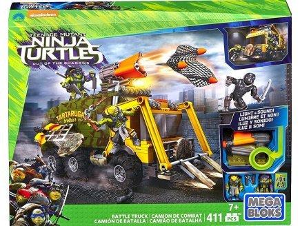 Mega bloks camion de combat des tortues ninja avec son et lumiere - turtles - figurine