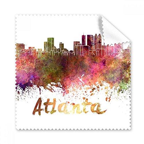 Atlanta Amerika Land City Watercolor Illustration Gläser Tuch Reinigungstuch Geschenk Handy-Display von 5x