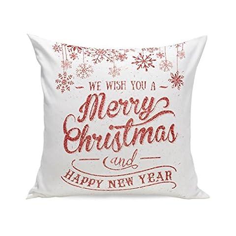 Joyeux Noël ! Reaso Avant Doux Série de Noël Canapé-lit Décoration intérieure Section Coussin (E)