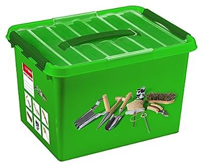 SUNWARE Q-Line Garten-Box + Einsatz - 22 Liter - 400 x 300 x 260mm - grün von Sunware B.V. bei Du und dein Garten