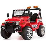Kids 2 Seater 12v Electric / Battery Ride on Car / Wrangler Style Jeep 4X4 Red