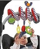 Crazy lin Baby-Krippe-Spielzeug wickeln um Spaziergänger-beweglichen Autositz-Spielwaren-neues Säuglingsbett-hängenden weichen Plüsch-Spielwaren ein