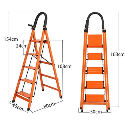 Escalerilla, Escalera plegable de aluminio de 3/4/5 pasos, escalera de tijera, escalera de extensión...