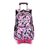 Schultasche Schulranzen Schulrucksack Trolley Kinderrucksack mit Rädern für Mädchen Kinder Wasserdicht Abnehmbar Nylon