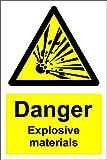 Warnzeichen Gefahr explosive Materialien - selbstklebender Aufkleber300 mmx200 mm